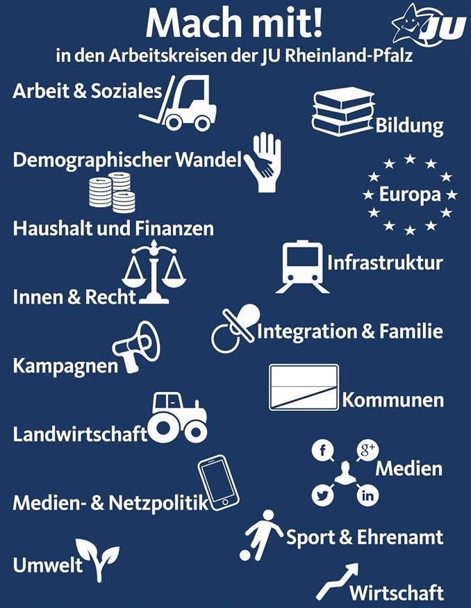 Die Arbeitskreise der JU Rheinland-Pfalz